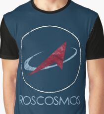 ROSCOSMOS Russian Space Agency Graphic T-Shirt