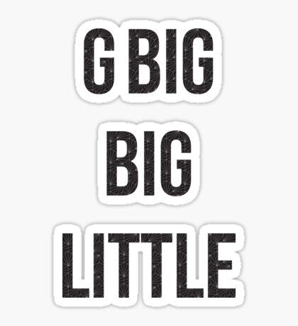 geo negro - pequeño gran gbig Pegatina