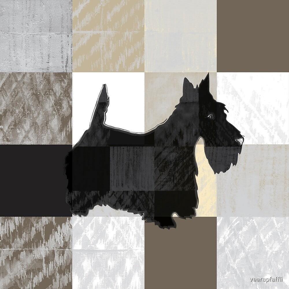 scottie checkered pattern by veerapfaffli
