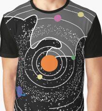 Space cat univers Grafik T-Shirt