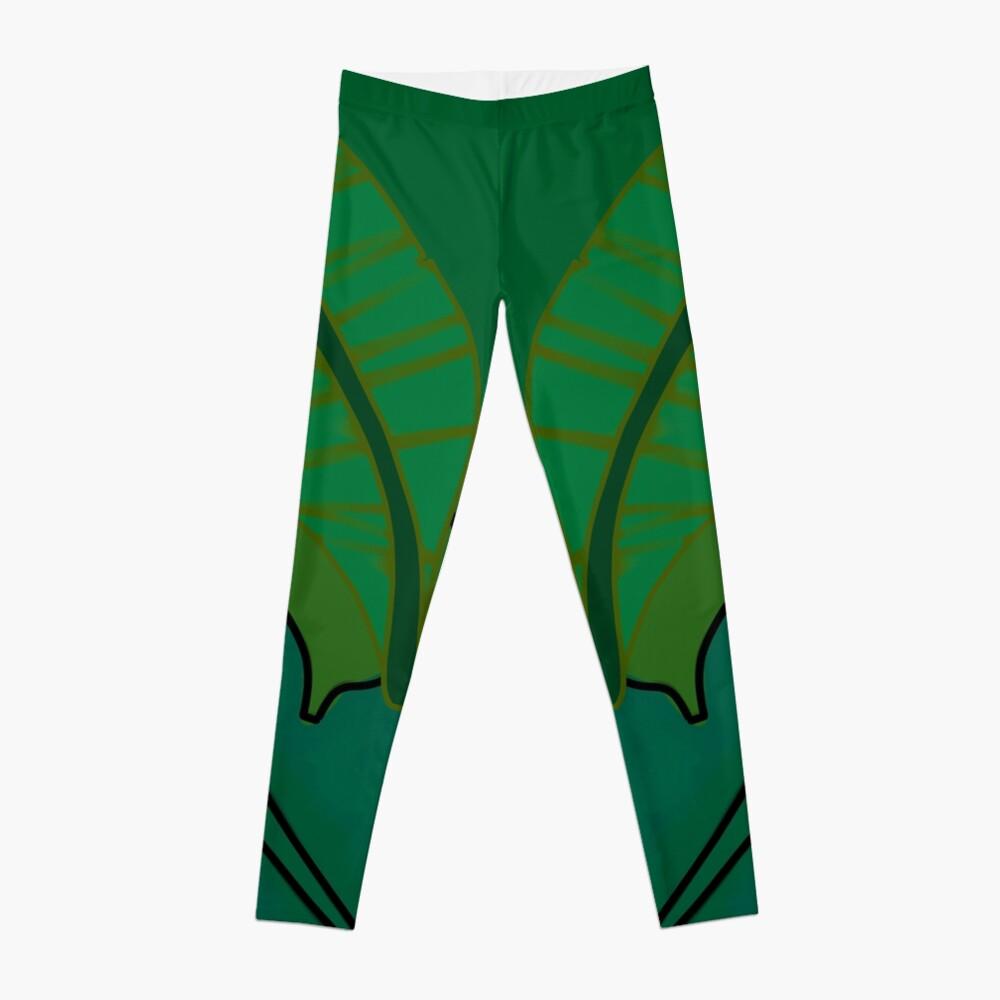 Leaf Design Leggings Front