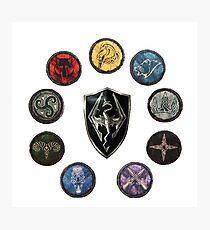 Shields of Skyrim Photographic Print