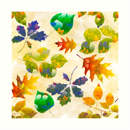 Fall Leaves Pattern by Christina Rollo