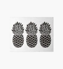 Pineapple Trio | Black and White Art Board