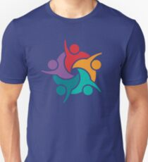 Five Color Successful People Group T-Shirt