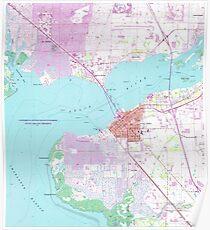 Punta Gorda & Port Charlotte Florida Map (1957)  Poster