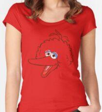Big Bird Face Women's Fitted Scoop T-Shirt
