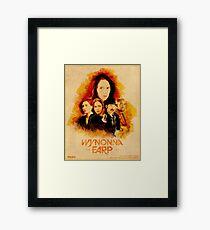 Wynonna Earp Western Style Cast Poster #2 Framed Print