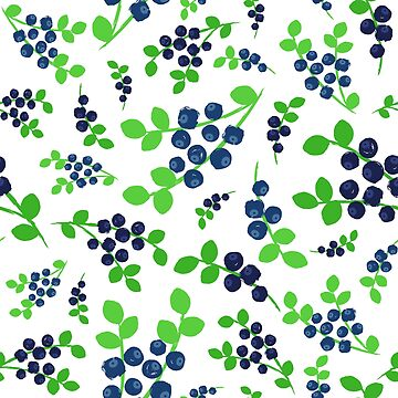 Blueberries Background Painted Pattern by amovitania