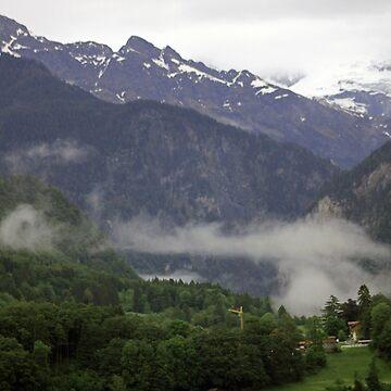 Foggy Morning In The Swiss Alps by skywalkin