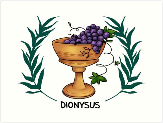 Dionysus Inspired Cabin Symbol Art Prints By Saintnightshade