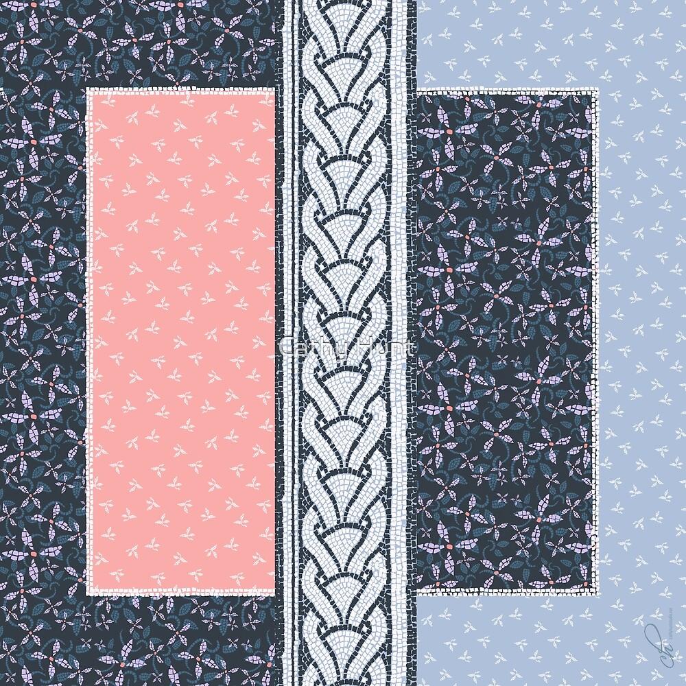 Mosaic Border by Cathy Hunt