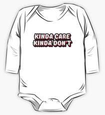 Kinda Care Kinda Don't One Piece - Long Sleeve