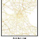 DUBLIN IRELAND CITY STREET MAP ART by deificusArt