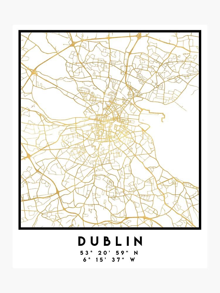Street Map Of Ireland.Dublin Ireland City Street Map Art Photographic Print