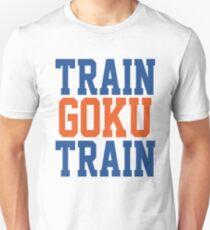 Train Goku Train - Dragon Ball Z style WWE mashup. Slim Fit T-Shirt