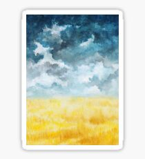 Clouds and Wheat Field Sticker