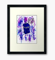 Galaxy T.A.R.D.I.S Doctor Who Quote Framed Print
