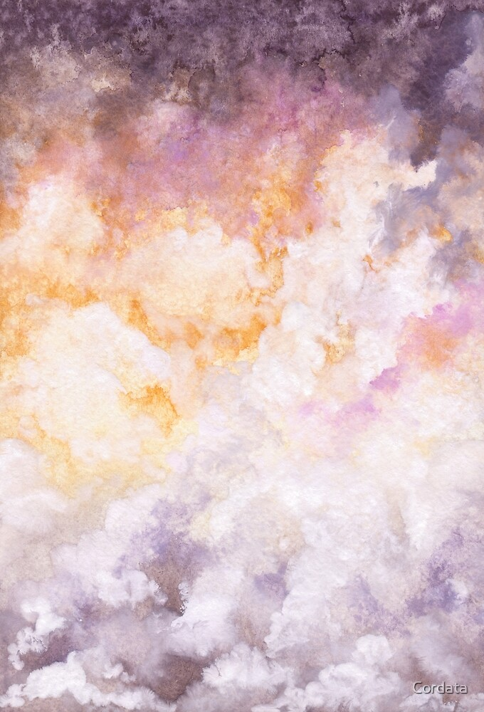 Watercolor Dramatic Sky by Cordata