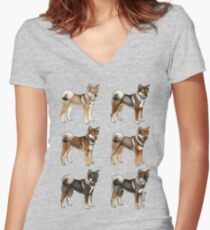 Shikoku Are My Number Wan! Women's Fitted V-Neck T-Shirt