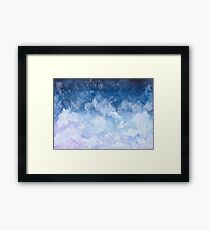 Pink and Blue Clouds Framed Print