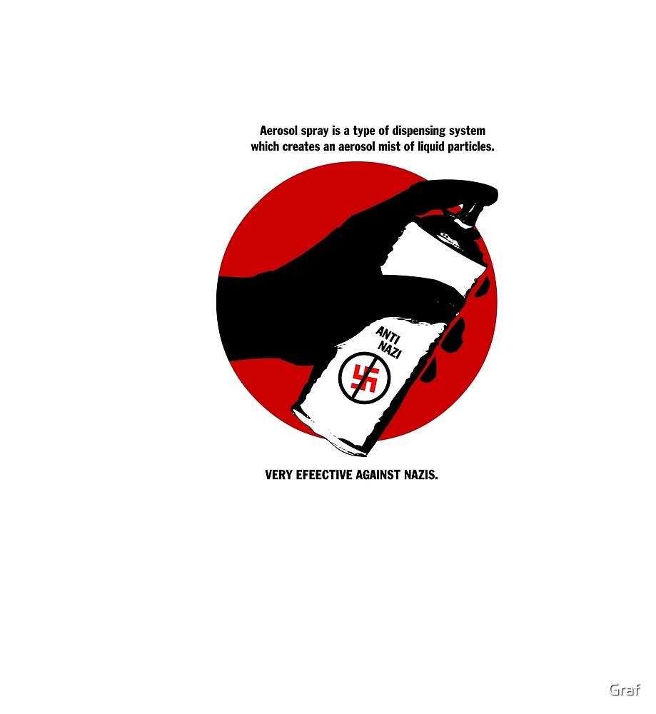 Anti Nazi T-Shirt  by Graf