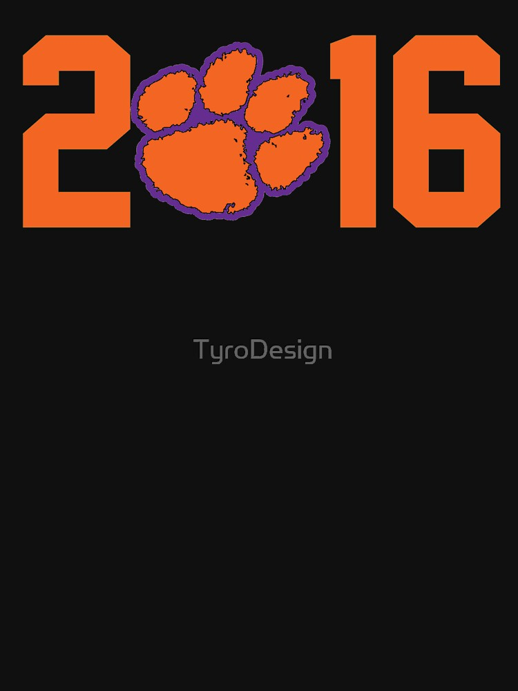 2016 National Champions Clemson Tigers by TyroDesign