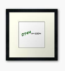 CC-1004 Cmdr. GREE Aurebesh. Framed Print