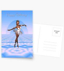 Beautiful Ballerina (Happy Birthday) Postcards