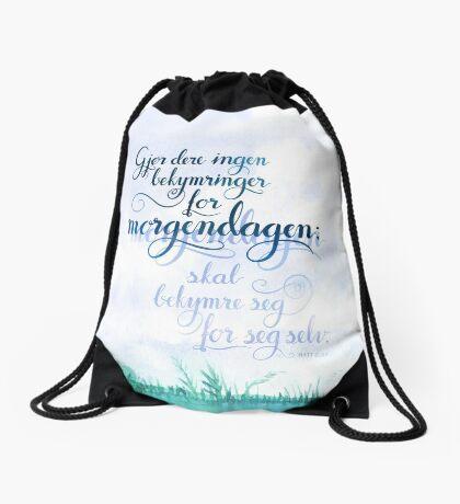 Gjør dere ingen bekymringer Drawstring Bag