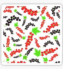 Red Black Currents Background Painted Pattern Sticker