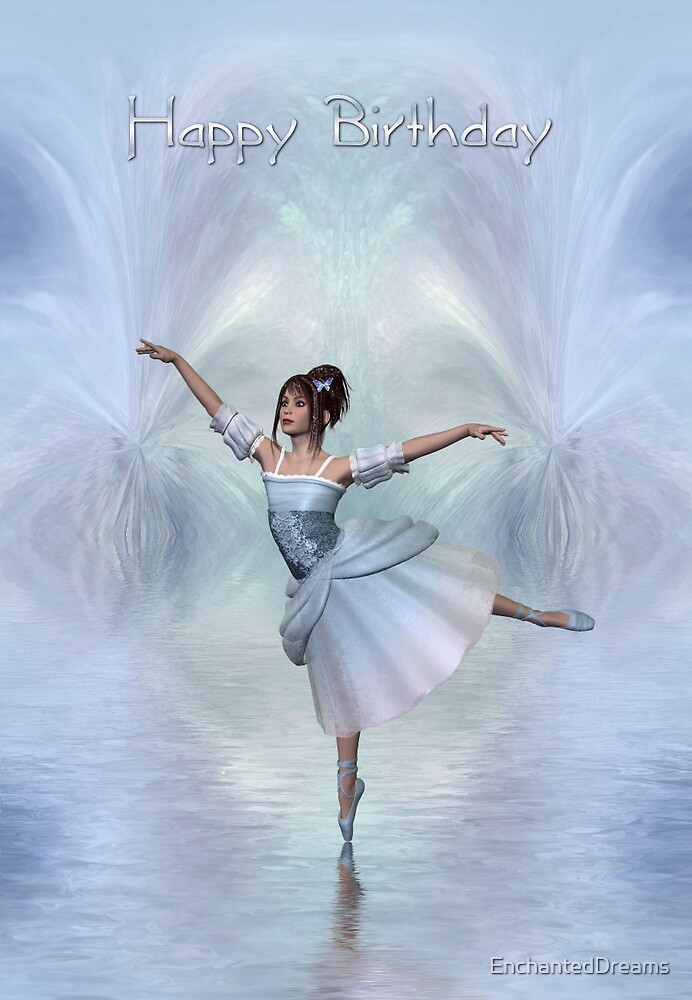 Dancing Fairy On Ice (Happy Birthday) by EnchantedDreams