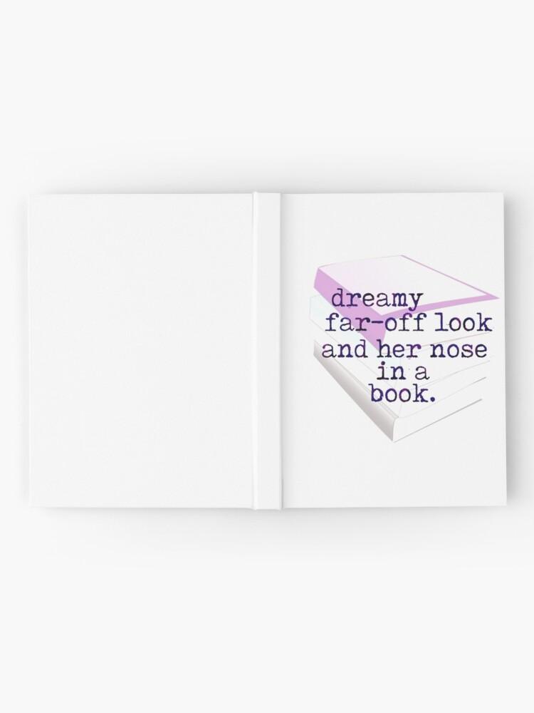 Regard Lointain Rêveur Et Son Nez Dans Une Citation De Livre Carnet Cartonné