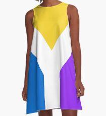 Y Flag A-Line Dress