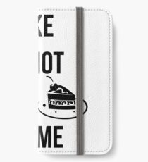 cake is not a crime iPhone Wallet/Case/Skin