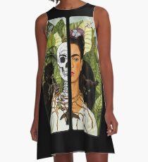 Frida Kahlo - Self Portrait (1940) Skeleton Version A-Line Dress
