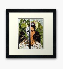 Frida Kahlo - Self Portrait (1940) Skeleton Version Framed Print