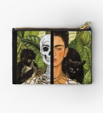 Frida Kahlo - Self Portrait (1940) Skeleton Version Studio Pouch