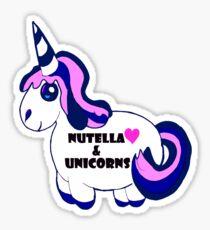 Nutella and Unicorns Sticker