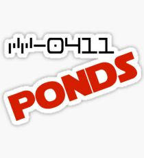 CC-0411 Cmdr. PONDS Sticker
