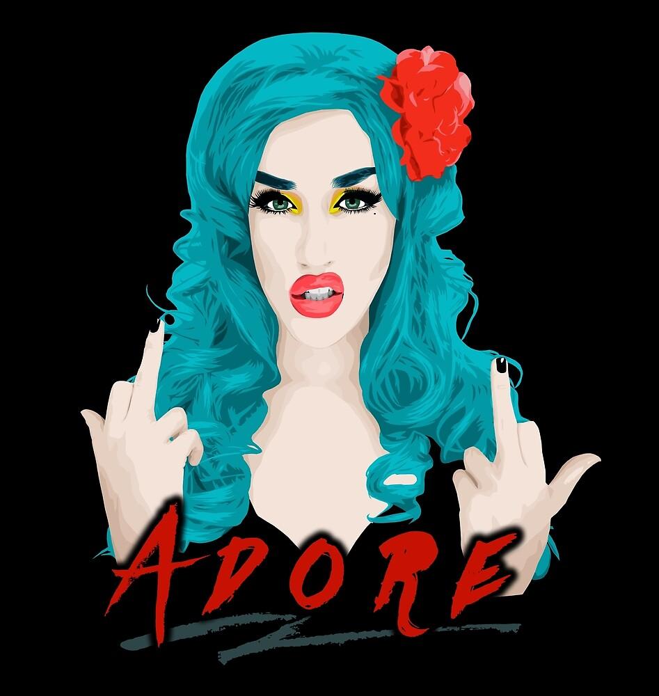 Adore Delano, Drag Queen, RuPaul's Drag Race by vixxitees