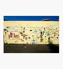 Stencil Wall Photographic Print