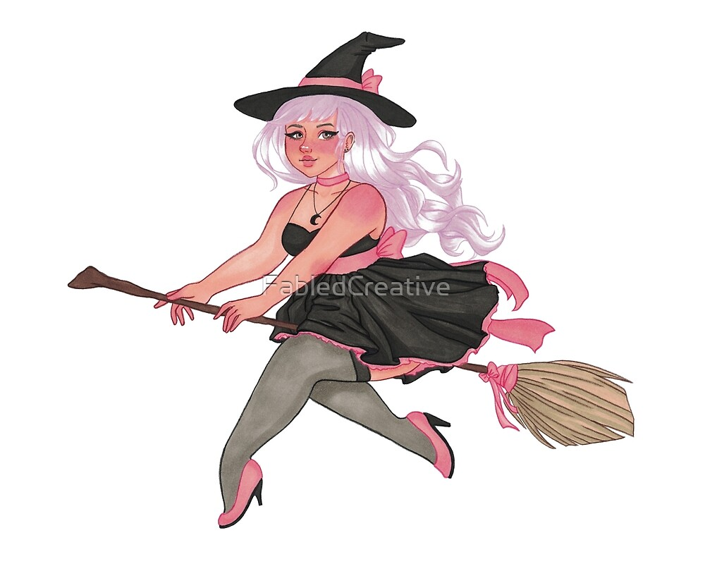 Chloe | Witch | Marker Art by FabledCreative