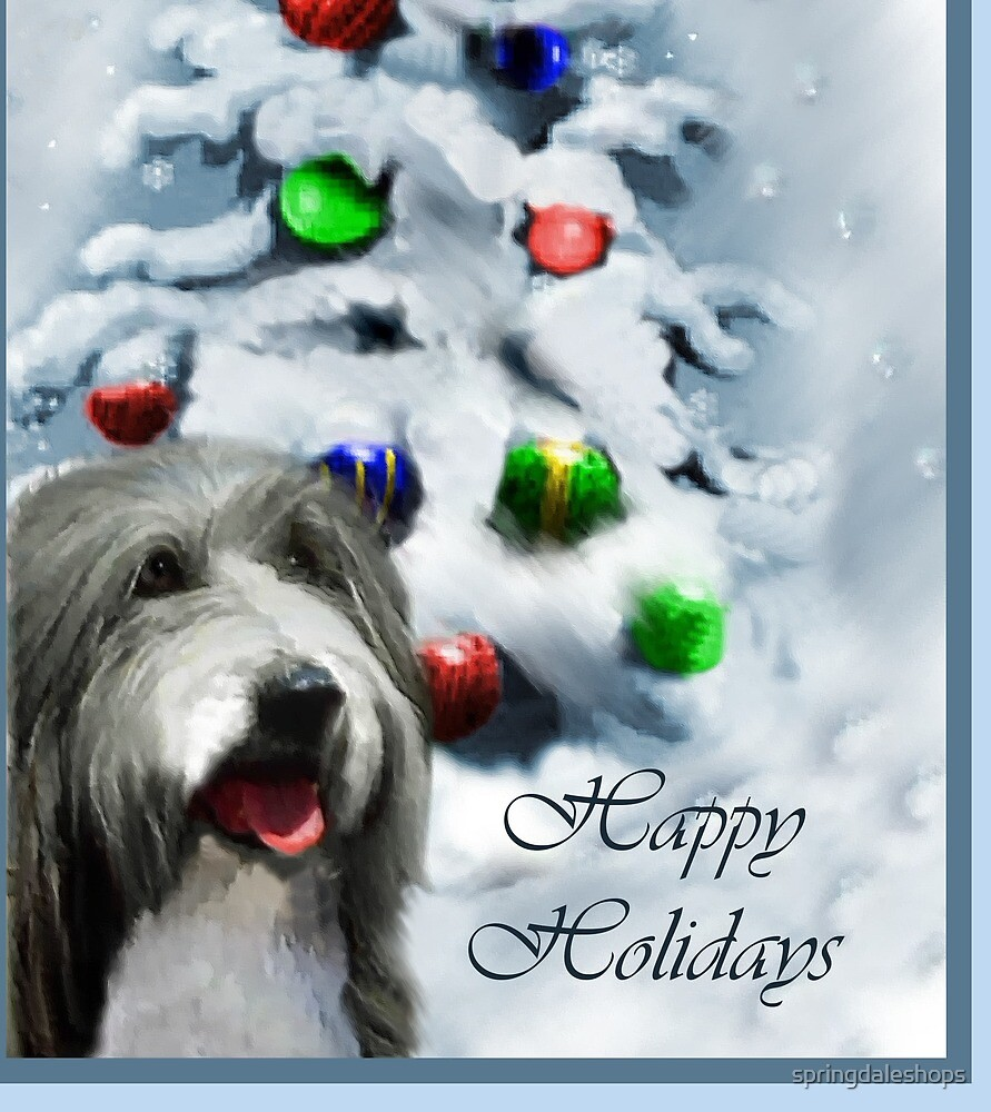 Bearded Collie Christmas Gifts by springdaleshops