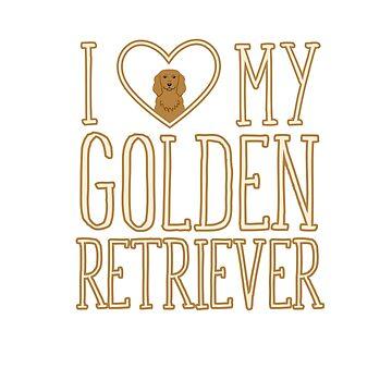I Heart/Love My Golden Retriever by artbachelor