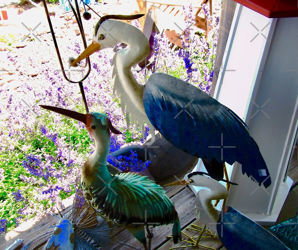 Ornamental Herons for sale in a PEI gift shop - Canada by Shulie1