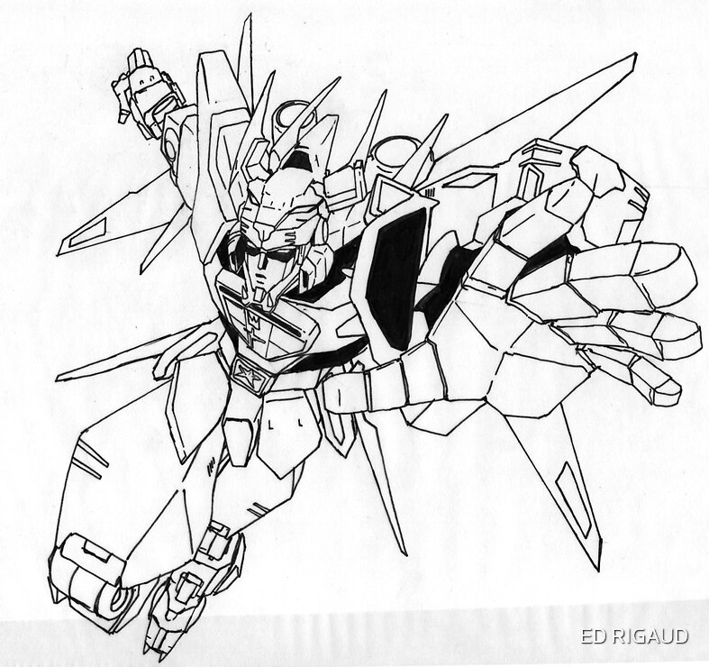quot Voltron line art quot by ED RIGAUD