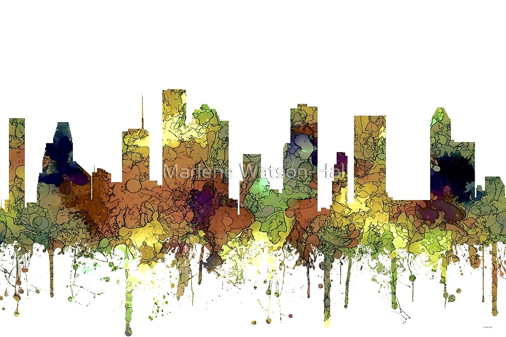 Houston, Texas Skyline - Safari Buff by Marlene Watson