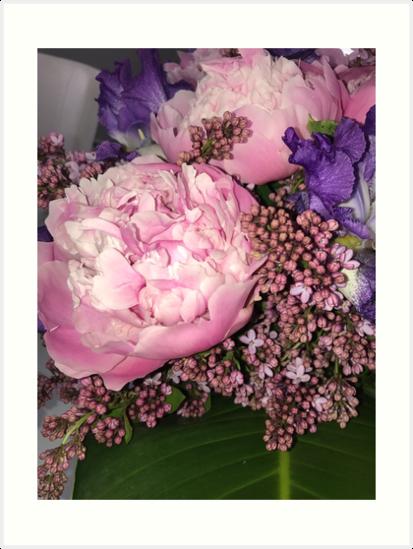 ~ Pink Peonies ~ by ArtbysahDesigns