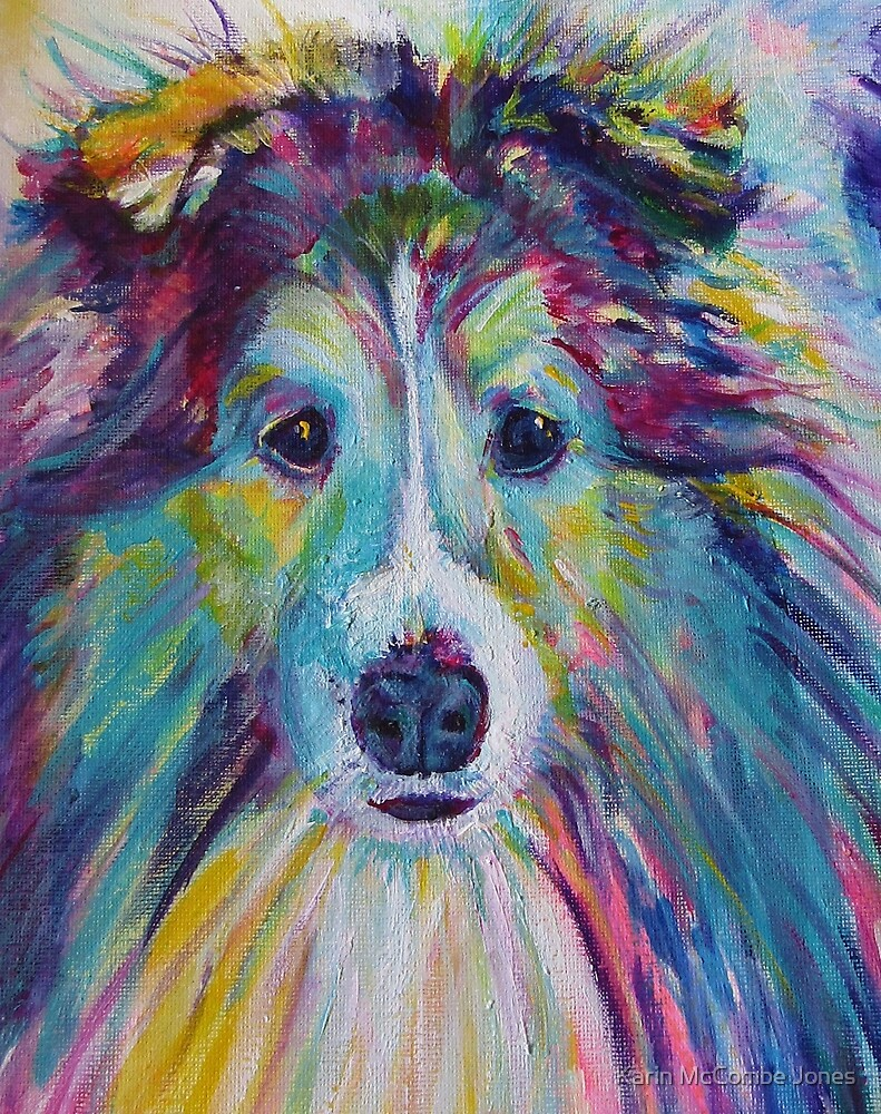 Sheltie Dog by Karin McCombe Jones